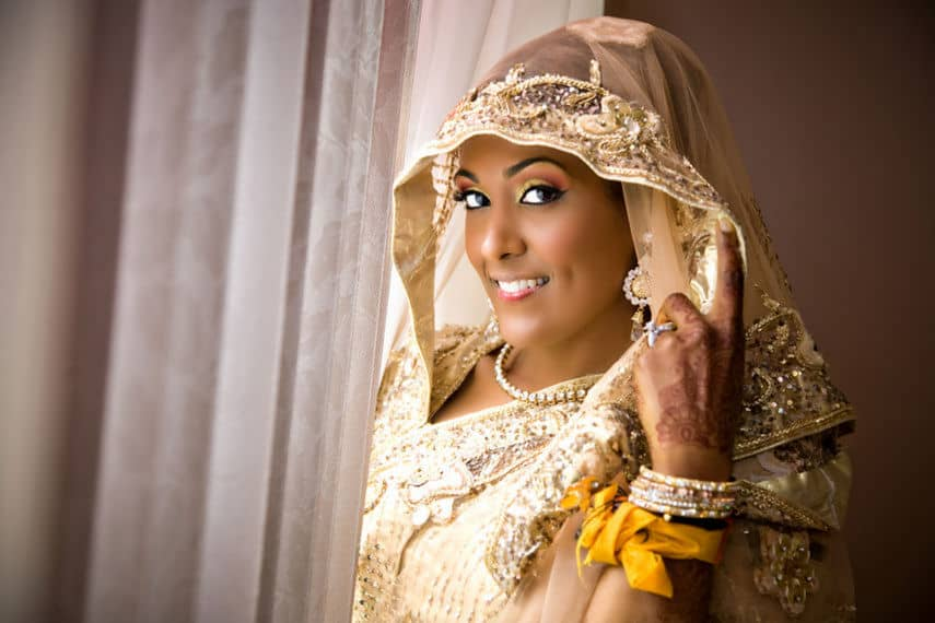 Indian wedding hairstyles for the wedding day