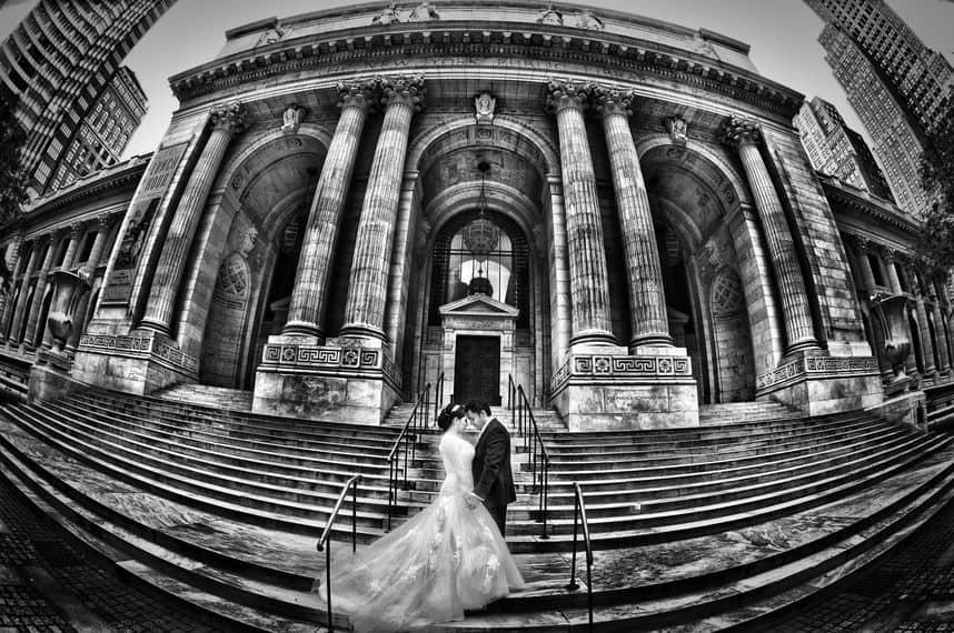 Weddings at the New York Manhattan library