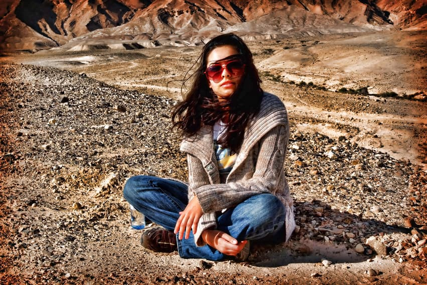 Fashion photography in the desert