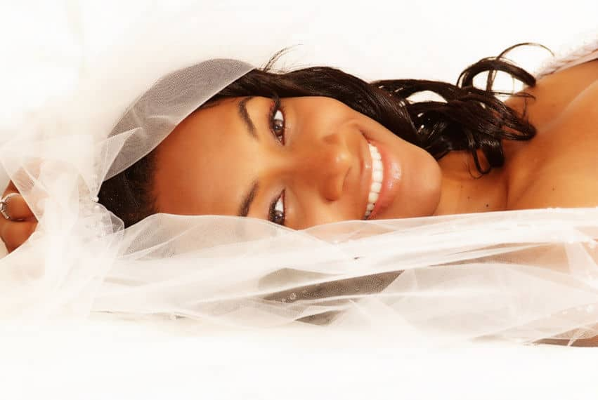 Short bridal veil for the wedding day