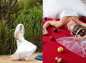Beautiful moments of the bride
