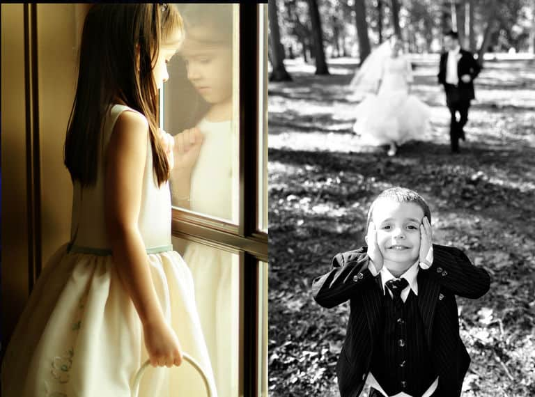 Cute moments of ring bearer and flower girl
