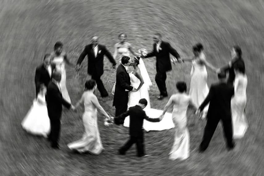 Dramatic wedding backdrops of Old Westbury Gardens