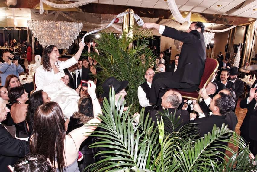 Jewish wedding chair dance