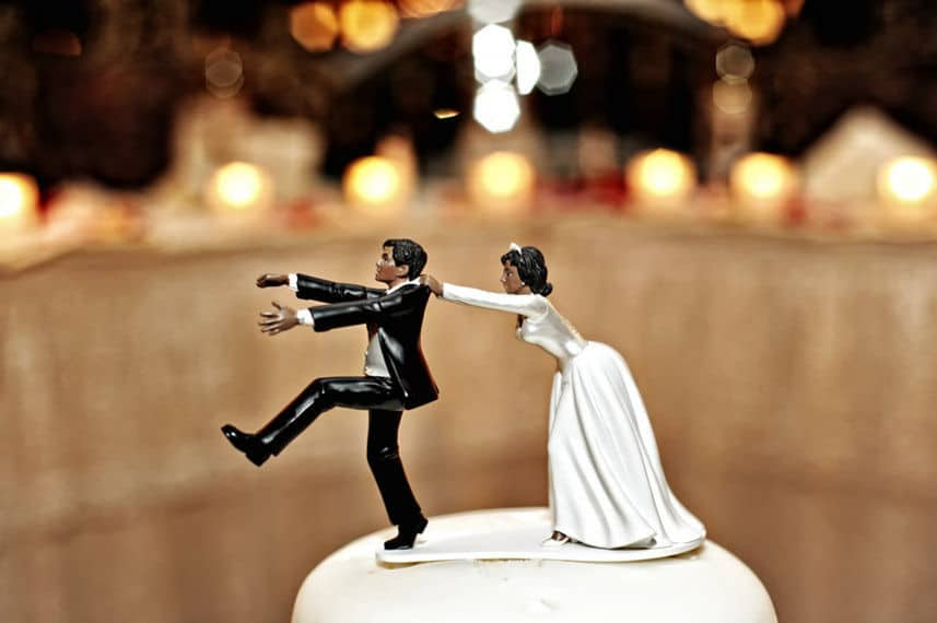The funny wedding cake toppers