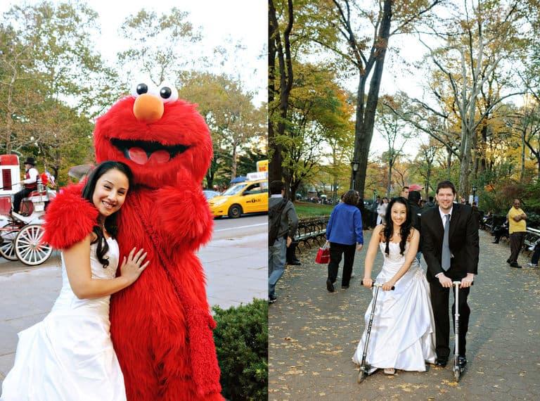 Central Park New York wedding Elmo