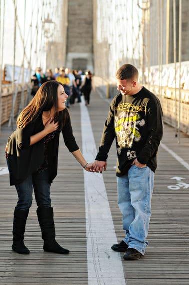 Photo shoot on the Brooklyn bridge and lighting photography ideas
