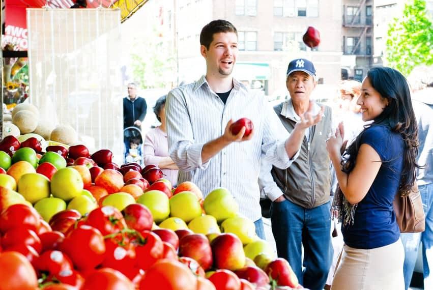 Cool supermarket engagement shoot ideas