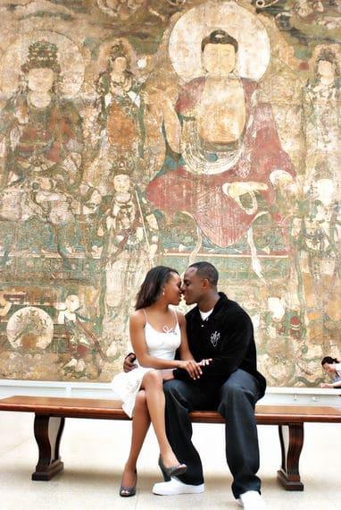 Metropolitan museum of art engagement shoot