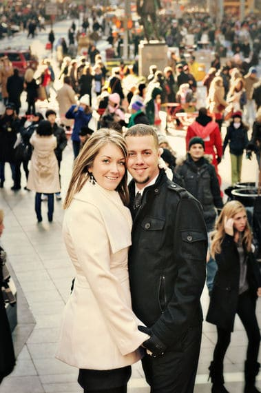 Engagement photos in times square