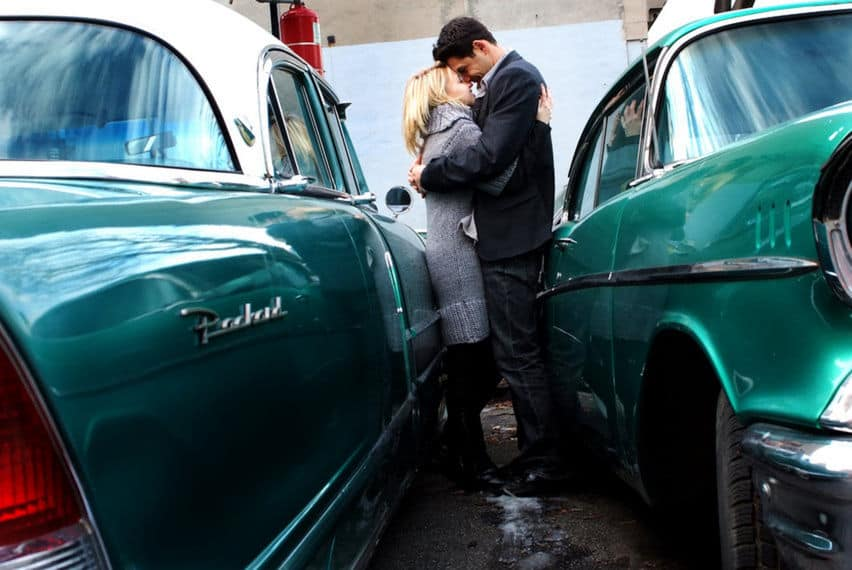 Engagement shoot muscle cars