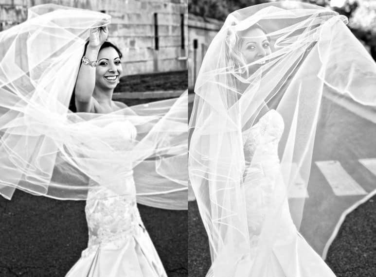 Brides magazine cover shoot