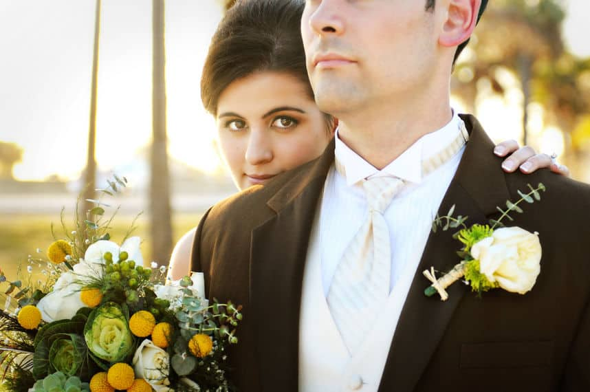 Sunset wedding receptions