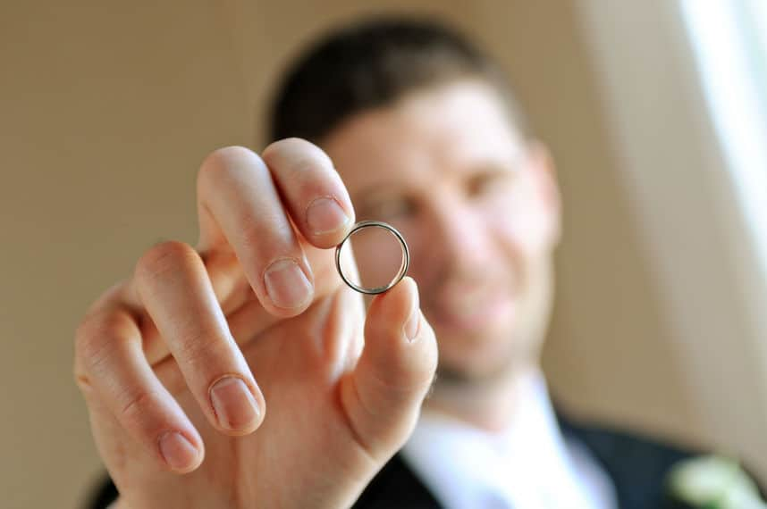 Groomsman custom wedding ring