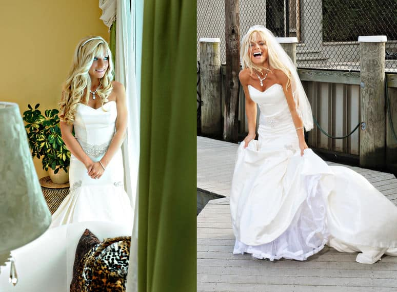 Brides laughing moments
